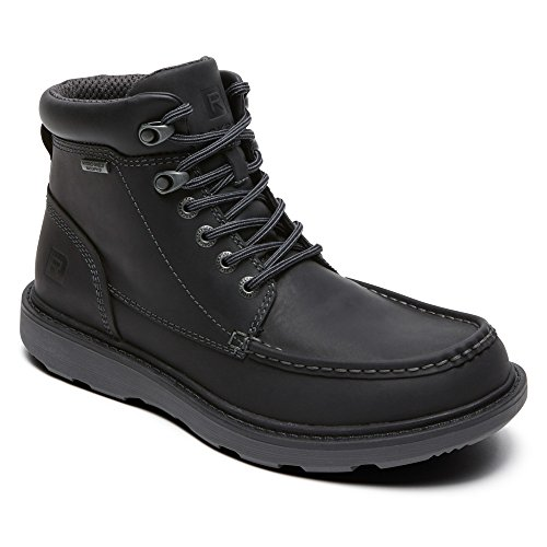 Rockport Men's Boat Builders Waterproof Moc Toe Boot Black 11 W (Toe Moc Rockport)