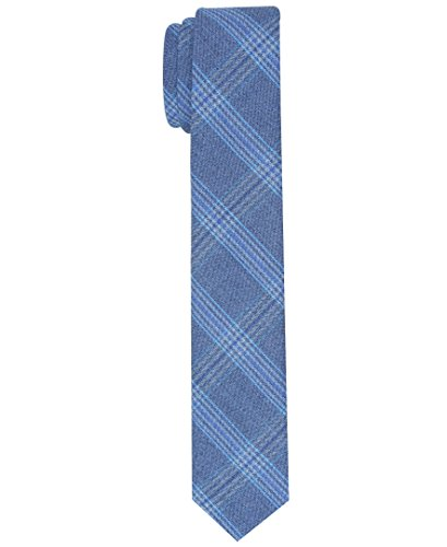 (Original Penguin Men's Master Plaid Tie, blue, One Size)