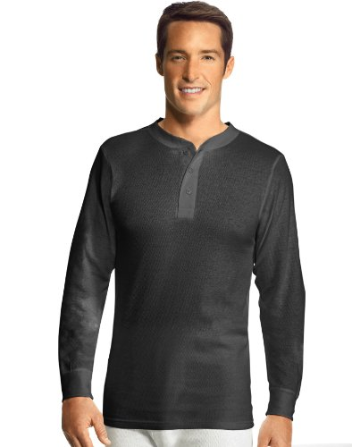 Hanes Men's X-Temp Thermal Henley (S, Bl - Waffle Knit Henley Shopping Results