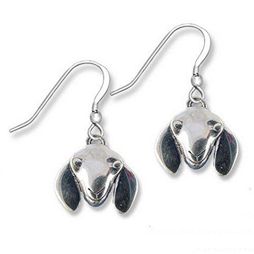 Sterling Silver Nubian Goat Earrings by The Magic Zoo