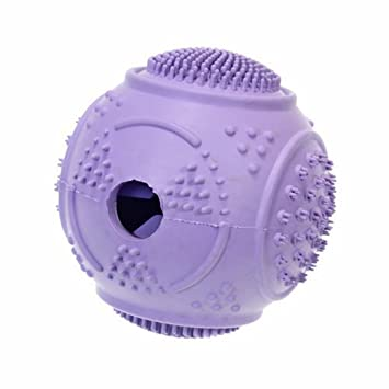 Pet dentist-rubber Dental Dientes Cleaner tratar ball-tough Durable Formación interactiva Dispensador de dulces y perro Chew Toy: Amazon.es: Productos para ...