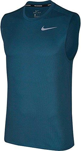 NIKE Men's Breathe Sleeveless Running Shirt - Blue Force/Blue Force, L (Nike Dri Fit Legend Sleeveless Training Shirt)