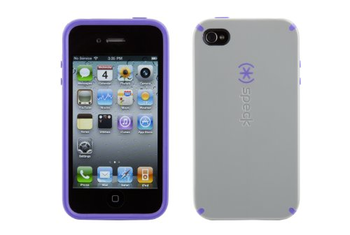 Speck CandyShell hülle für Apple iPhone 4 grau/lavender
