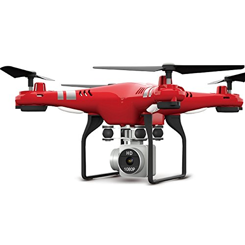 RC Drone RTF With 1080P HD Camera Quadcopter One Key Auto Return Height Holding - Red by KAIM