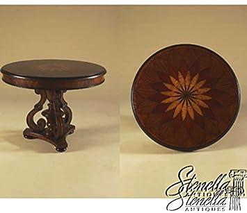 MAITLAND SMITH Round Inlaid Mahogany #3030 616 Regency Center Table ~ New