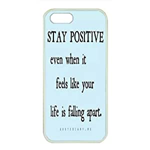 iPhone 5/5S Case,Fashion Durable White Side Diy design for Apple iPhone 5/5S(4.0 inch),Rubber material iPhone 5/5S Cover ,Safeguard Phone from Damage ,Designed Specially Pattern from our Life with Stay Strong inpirational quotes Designed on Blue. by Maris's Diary