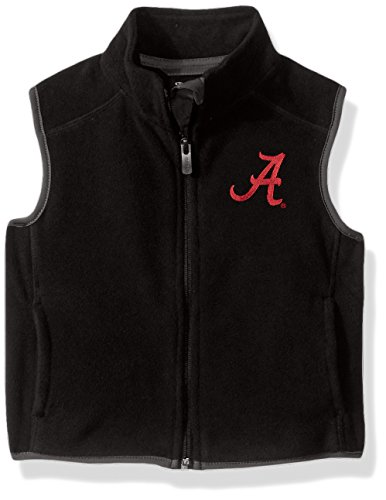 NCAA Alabama Crimson Tide Kids & Youth Boys Scrimmage Polar Fleece Vest, Black, Kids Large(7) by NCAA by Outerstuff