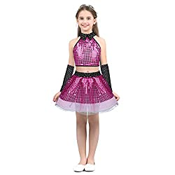 Sequin Dance Outfit Crop Top Tutu Skirt