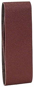 Bosch 2 609 256 203 pack de 3 calidad roja Juego de hojas de lija de 3 piezas para lijadora de banda