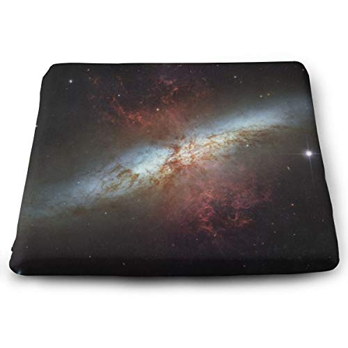 Pamdart Galaxy Space Stars Wallpaper Background Standard Customized Square Seat Cushion Memory Cotton Zipper Detachable for Dining Table Patio Chair