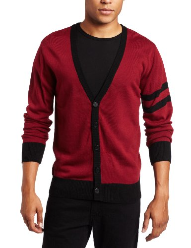 Southpole Men's Solid Color Cardigan Sweater