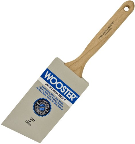 Wooster Brush Z1222-3 White Majestic Angle Sash Paintbrush, 3-Inch