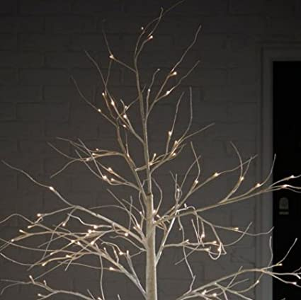 reputable site 1335f 32b06 6ft White Birch Pre-Lit Christmas Tree: Amazon.co.uk ...
