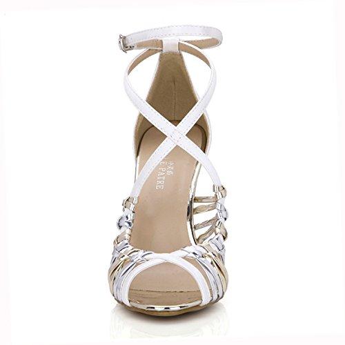 Nouvelles Sandales femme soirée dîner dansant le banquet la haute-chaussures de talon bien avec chaussures femmes IORQDmSRQ