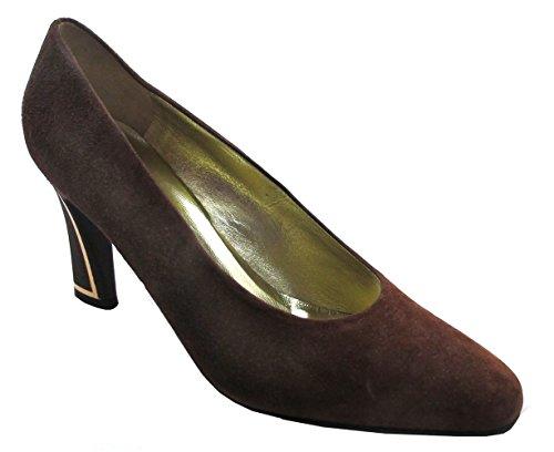 Domanici 2492 Womens Italian Rounded Square Toe Heels nOSeszvo