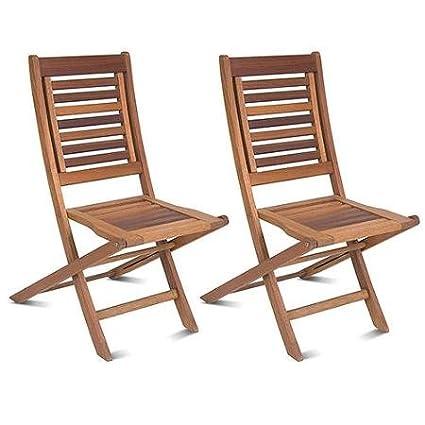 Amazon.com: Milano – Silla plegable de madera Eucalipto FSC ...
