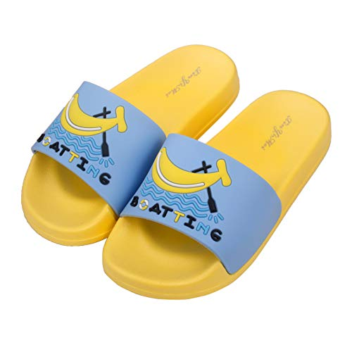 Anddyam Kids Family Household Sandals Anti-Slip Indoor Outdoor Home Slippers for Girls and Boys (US Little Kid (5-6 Years), Yellow - Yellow Boys Sandals