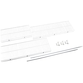 Rubbermaid Direct Mount Non-Adjustable Closet System, Hardware, White, Hardware Pack for 16-inch Shelf (FG3R0500WHT)