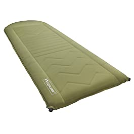 Lightspeed Outdoors Self Inflating Sleep Pad (Green/Brown)