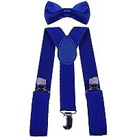 BODY STRENTH Boys Suspenders and Bow Tie Set Adjustable Elastic