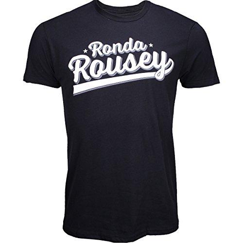 UFC Ronda Rousey Script Shirt - Black - Medium