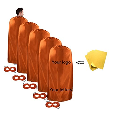 Ranavy Diy Superhero Capes Adult Bulk -Party Superhero Costumes Set of 5 (Adult Superhero Cape)