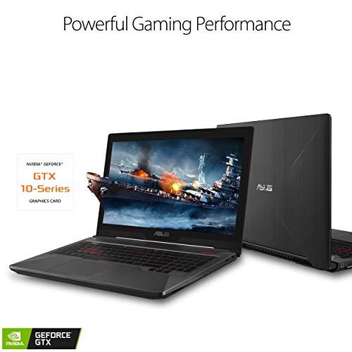 Asus FX503VD Powerful Gaming Laptop 15.6 Full HD, Intel Core i7-7700HQ Quad-Core Processor, GeForce GTX 1050 4GB, 8GB DDR4, 128GB SSD + 1TB HDD, Windows 10 Home - FX503VD-EH73