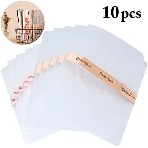 JUSTDOLIFE Clothes Folder, 10Pcs T Shirt Folder Closet Foldable Storage Organizer DressBook T Shirt Folding Board Quick and Easy Suit for Any Home Adult and Kids Clothes (10Pcs)