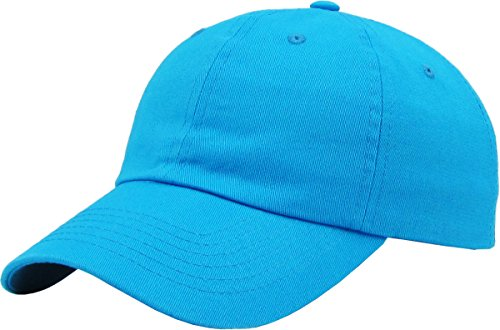 Classic Cotton Dad Hat Adjustable Plain Cap. Polo Style Low Profile (Unconstructed)
