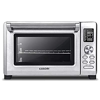 COSORI Toaster Oven, Recipes & Accessories Included,25L Hot Convection Oven with 11 Presets, Toast, Pizza, Rotisserie, Food Dehydrator,Nonstick interior, Brushed stainless Steel,1500W, 2 Year Warranty