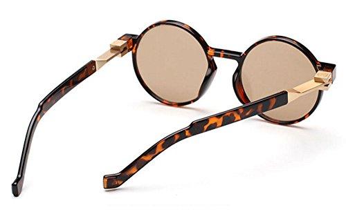 Rétro Rouge lunettes rond et Hellomiko soleil vintage cadre femmes hippy UV Or Lunettes de polarisé Noir hommes dIUwFfxZwq