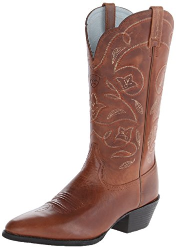 Western R Russet Boot 9 Naturally Toe Rebel Heritage B 5 Ariat US 1 Womens Distressed Black EqnpHEU