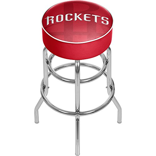 - Trademark Gameroom NBA1000-HR2 NBA Padded Swivel bar Stool - Fade - Houston Rockets