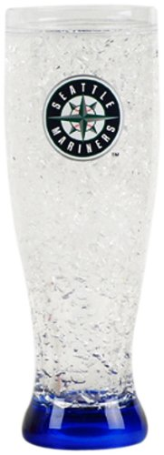 (MLB Seattle Mariners 16-Ounce Crystal Freezer Pilsner)
