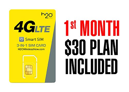H2O Wireless $30/month 4GB Unlimited Plan - Special offer 1st month  included a $30 value!