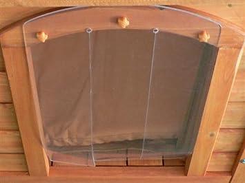 Puerta para caseta de madera de perro: Amazon.es: Productos para mascotas