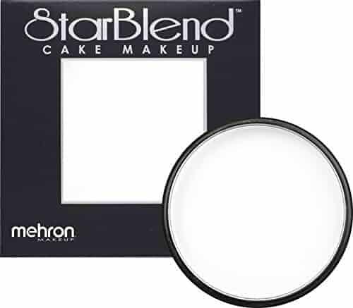Mehron Makeup StarBlend Cake Makeup WHITE – 2oz