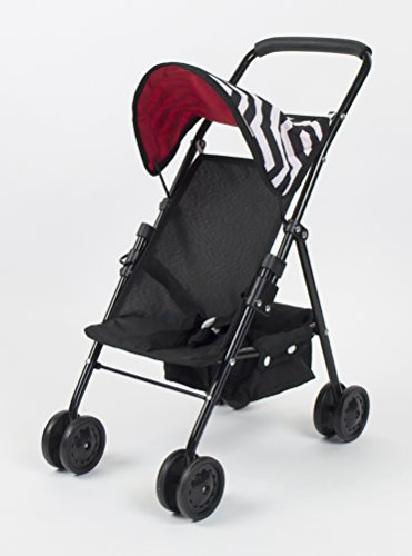 lil' rose My First Doll Stroller with Basket in Modern Chevron Print, Excellent Quality ()