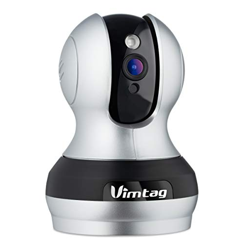 Vimtag 361 2MP Smart WiFi IP Camera, Wireless Indoor Camera with Two/Way Audio, Motion Detection, Night Vision, PTZ for Monitor Home Surveillance, Work with Alexa 1080P (362)