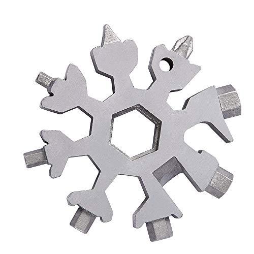 18-in-1 Snowflakes Multi-Tool Stainless Steel Keychain Multi-Tool Combination Bottle Opener Incredible - Keychain Snowflake