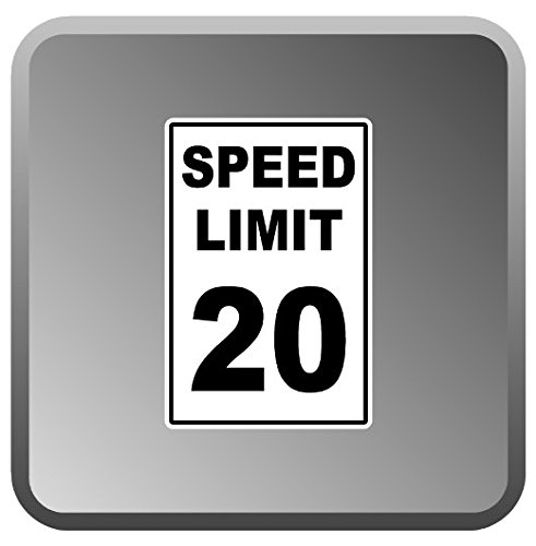 (3 Pack - 20 MPH Speed Limit Sticker )