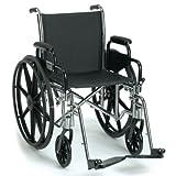 "Breezy EC 3000 Lightweight Wheelchair 18""W, Removable Desk Arms, Swingaway Elevating Legrests"