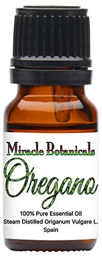 Miracle Botanicals Oregano Essential Oil - 100% Pure Origanum Vulgare L. - Therapeutic Grade - 10ml (Best Oil Of Oregano For Herpes)