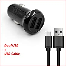 Life-Tech Dual Ports USB Car Charger Adapter + USB Charging/Data Cable For BlueAnt Pump HD Sportsbuds Bluetooth