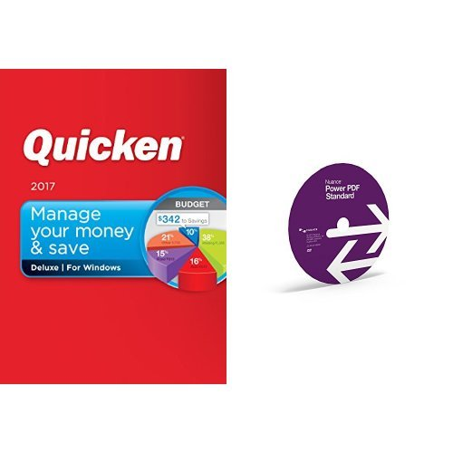 Quicken Deluxe 2017 and Nuance Power PDF Standard 2.0 bundle