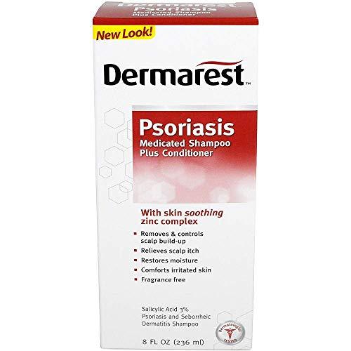 Dermarest Psoriasis Medicated Shampoo Plus Conditioner - 8 oz, Pack of 4