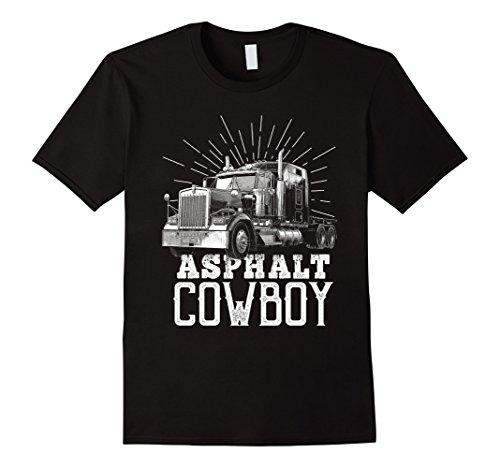 Mens Asphalt Cowboy Trucker Truck Driver Shirt