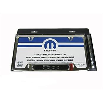 Amazon.com: Fiat 500 Negro Licencia Marco de la placa con ...