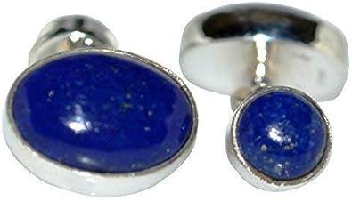 Blue Lapis Lazuli Semi-precious Gemstone Cufflinks