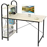 HOME BI Study Desk, Home Office Computer Desk with Shelf, Wood Work-Station PC Laptop Table, Natural  For Sale